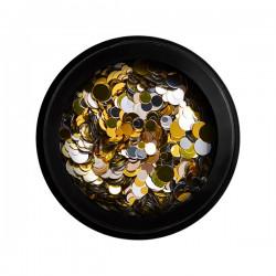 Confettis doré et argenté