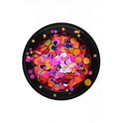 Confettis pêche, rose bleu