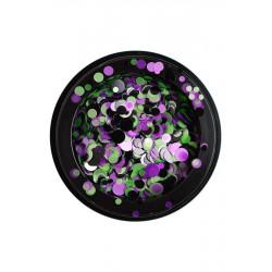 Confettis noir/lila/doré